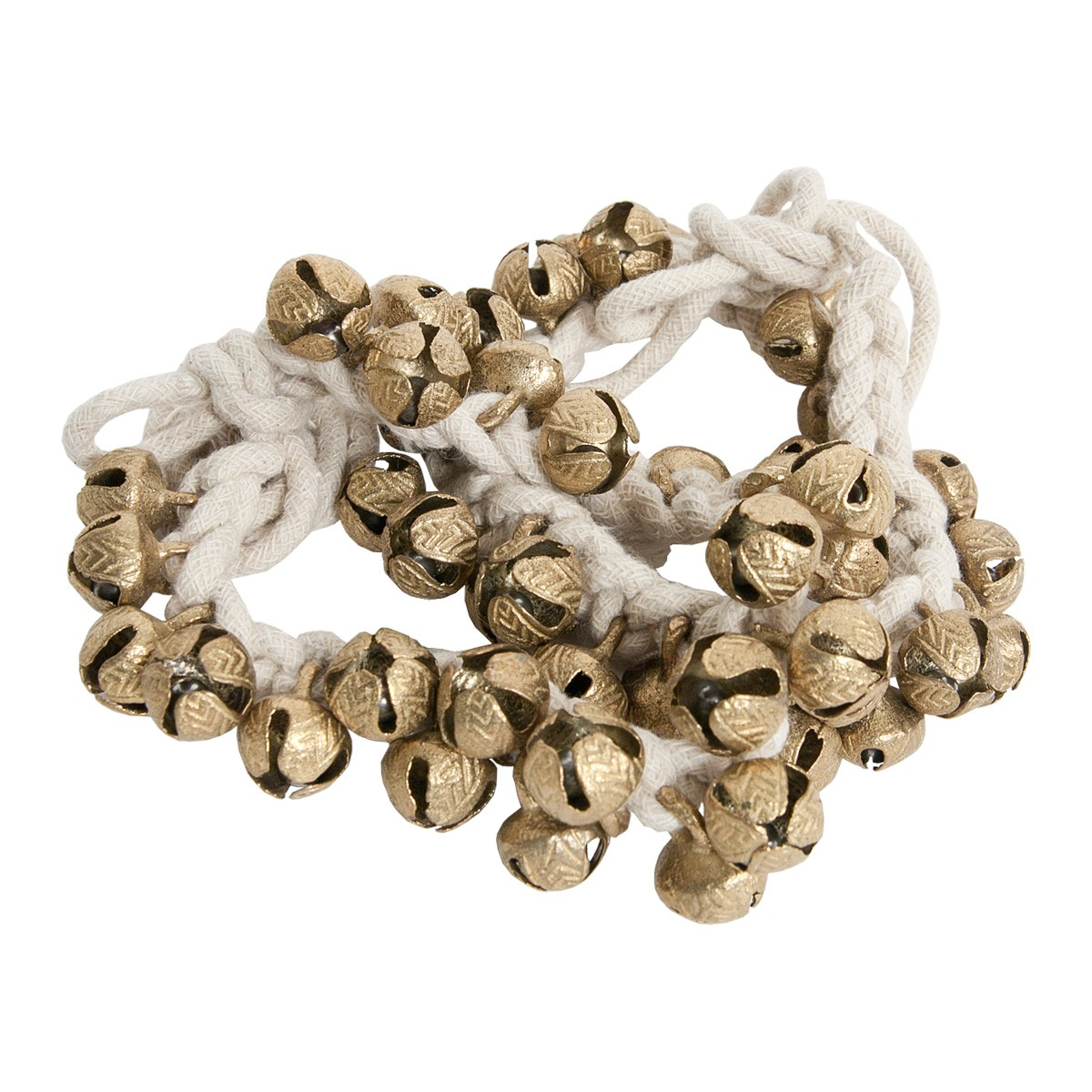 Mid-East String of 25 Round Ankle Bells - Pair