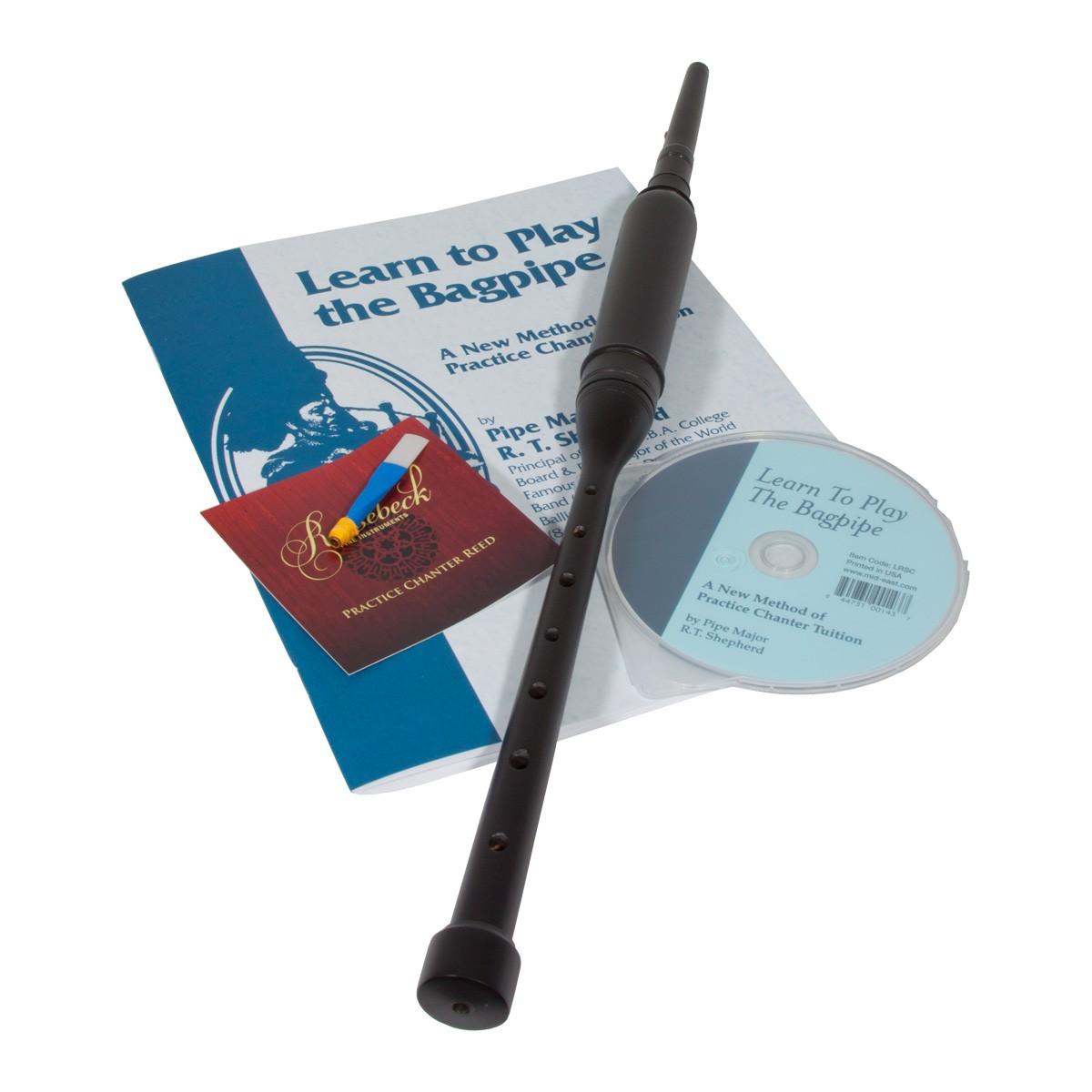 Roosebeck BAGLRCB Black Red Cedar Practice Chanter w/ Book and CD