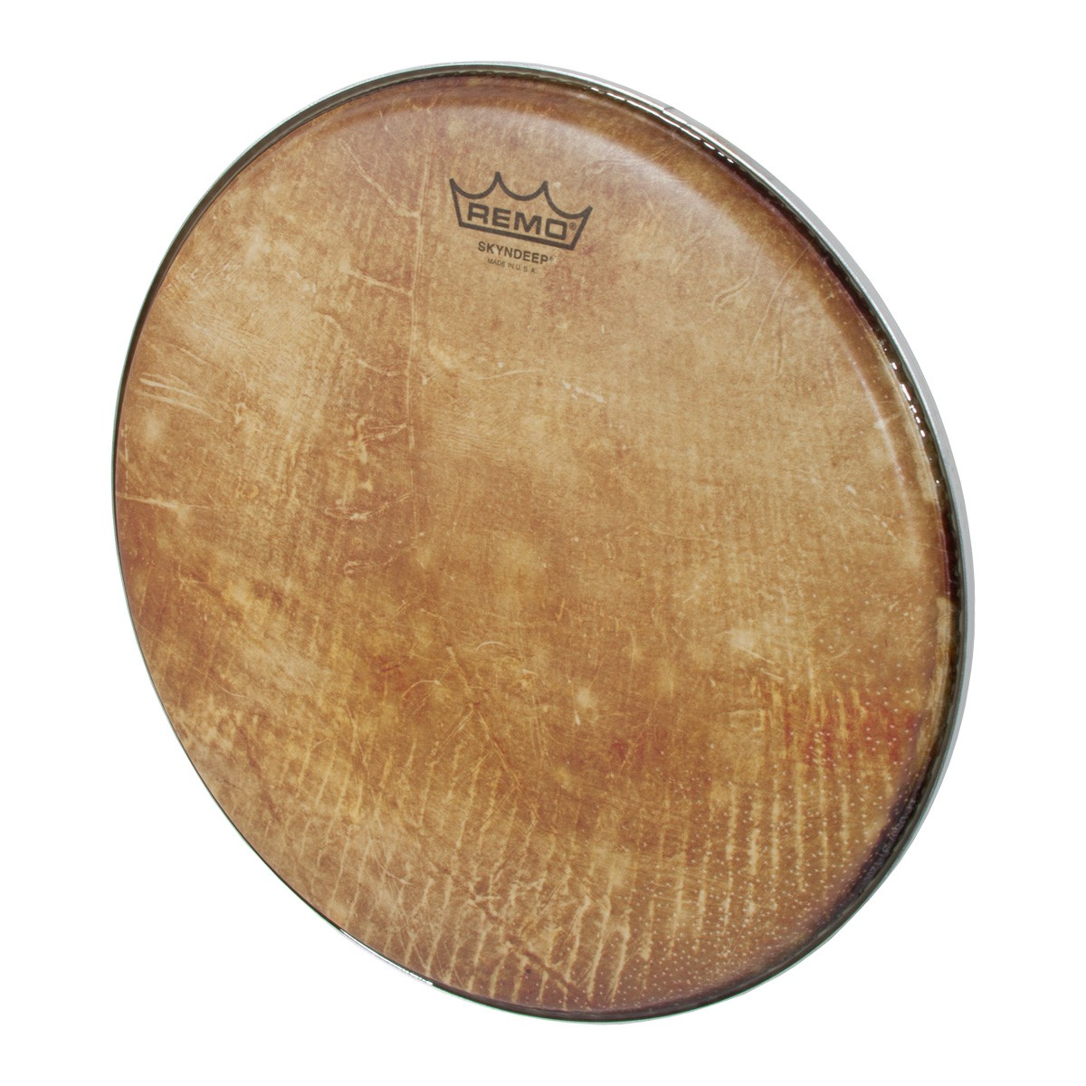 Remo Skyndeep Clear Tone R Series Doumbek Head 12-Inch Diameter 3/8-Inch Collar - Fish Skin Graphic