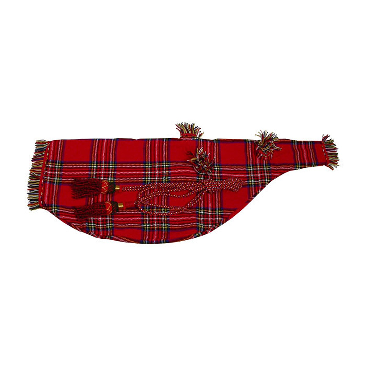 Roosebeck Full Size Bagpipe Cover and Cord - Red Tartan