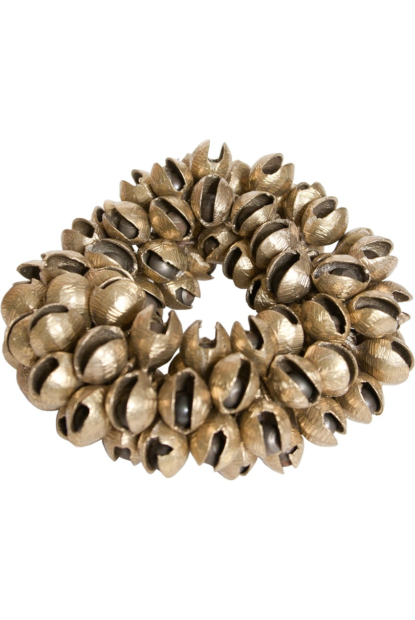 Mid-East Plain Brass Clam Bells 100-Count