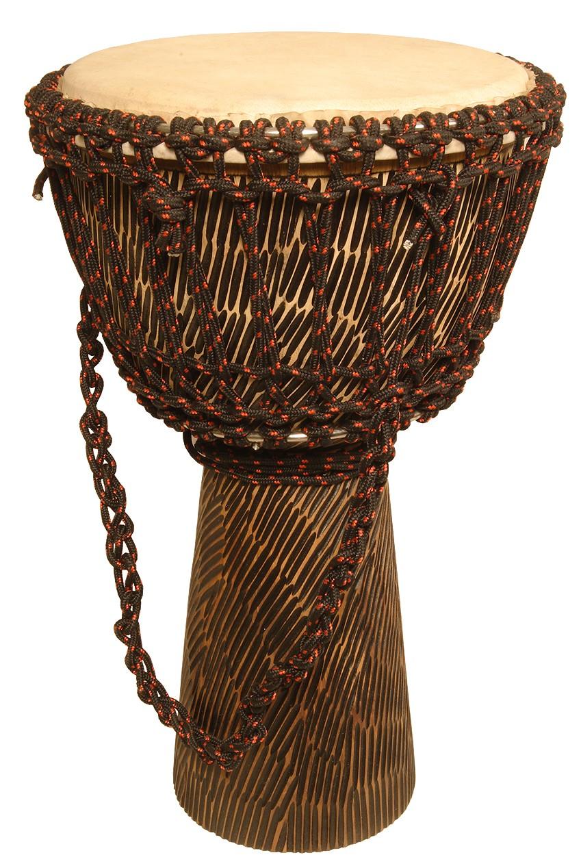Mid-East Rope Tuned Sheesham Djembe w/ Goatskin Head 10'x20' - Hewn