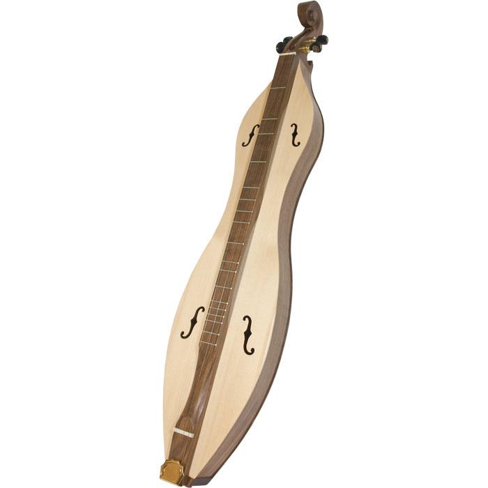 Roosebeck Emma Mountain Dulcimer 4-String Vaulted Fretboard Spruce F-Holes - Walnut *Blemished