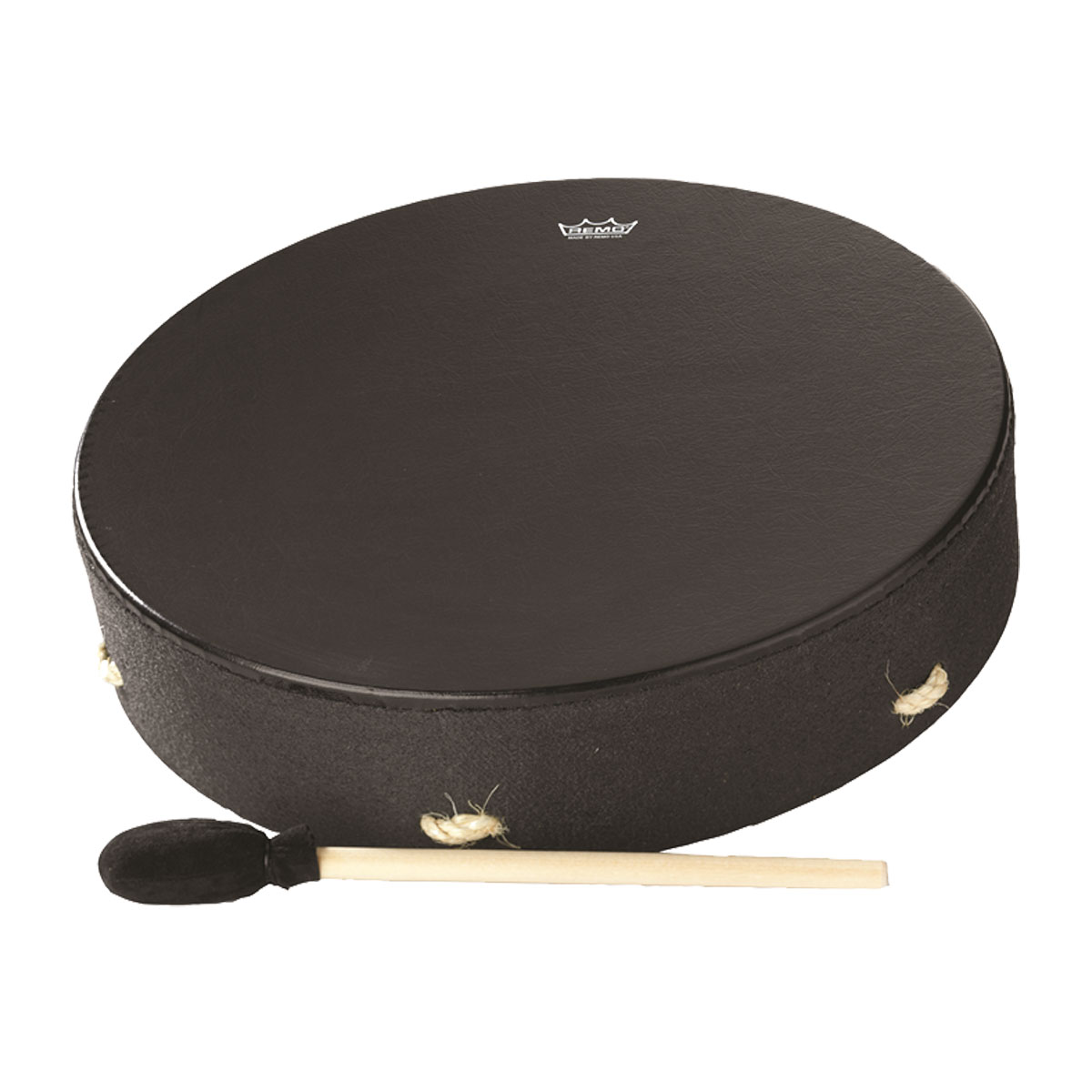 Remo Buffalo Drum 16-by-3.5-Inch - Black Earth