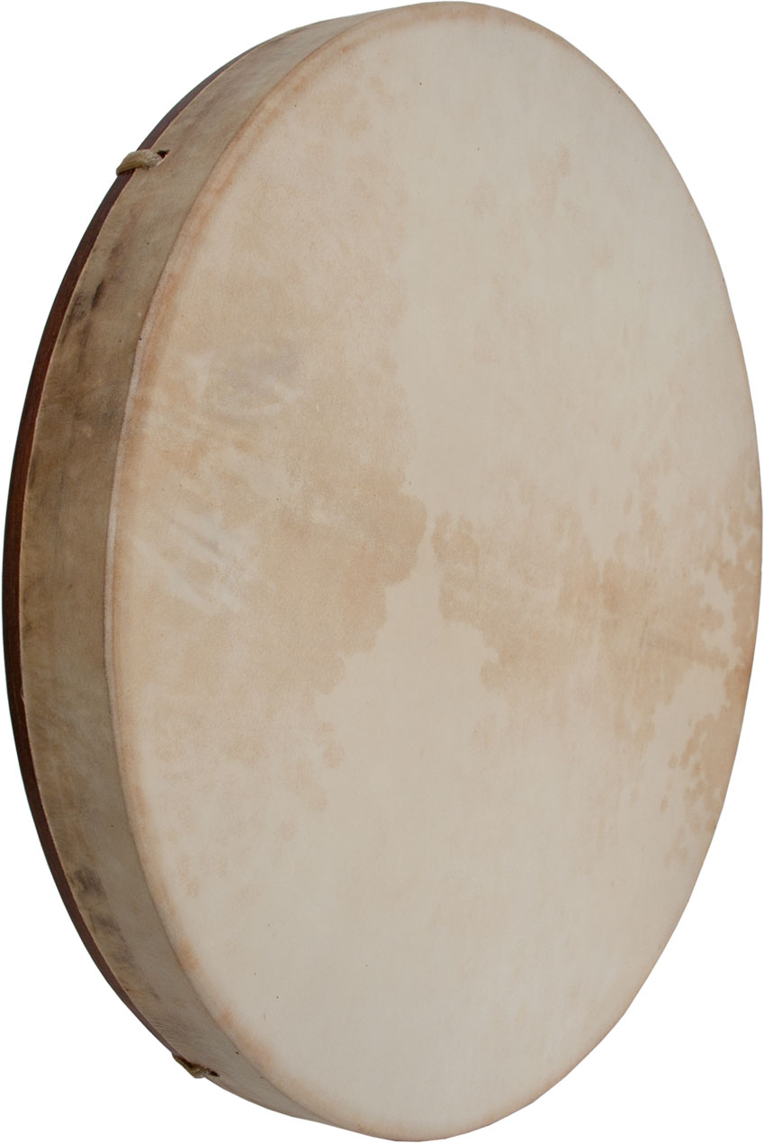DOBANI Pretuned Goatskin Head Red Cedar Wood Frame Drum w/ Beater 18'x2'