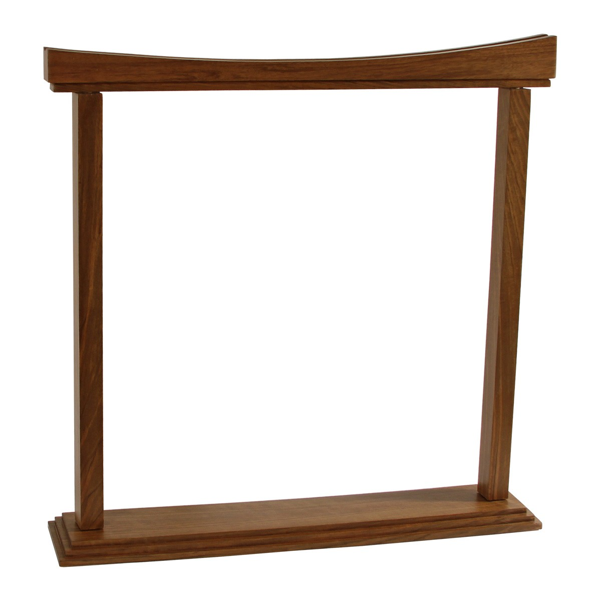 DOBANI Curved Gong Stand 18-Inch - Walnut