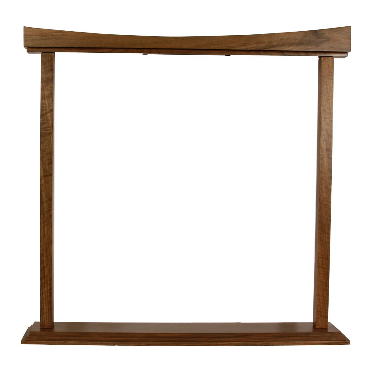 DOBANI Curved Gong Stand 22-Inch - Walnut