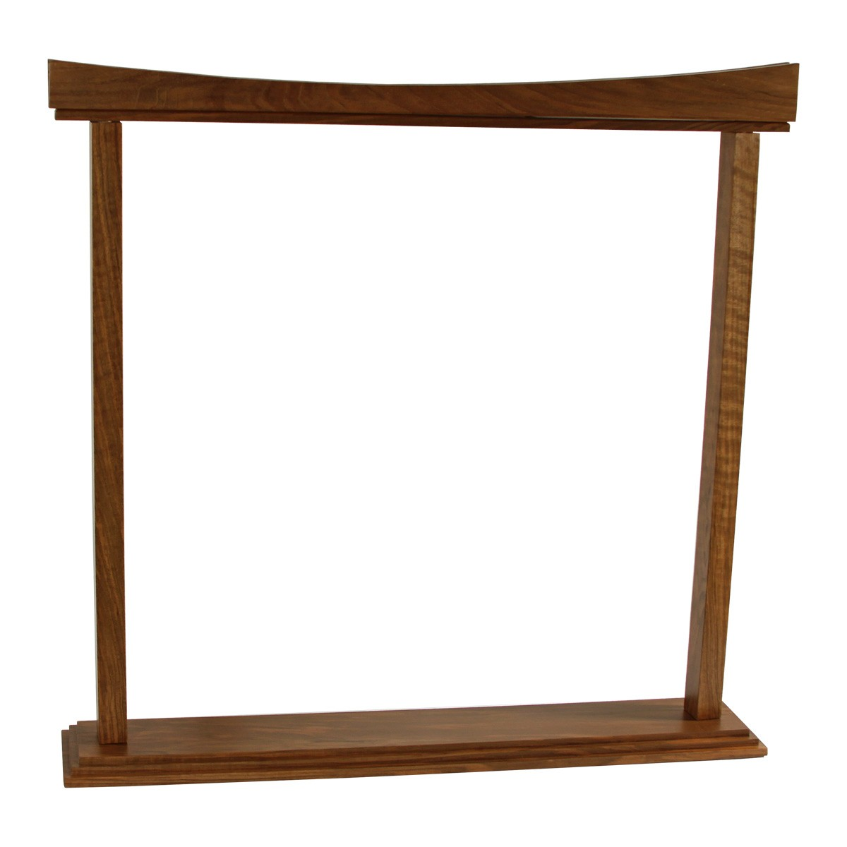 DOBANI Curved Walnut Gong Stand 26-Inch