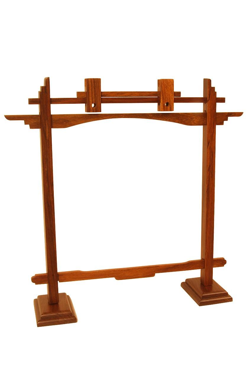 DOBANI Pedestal Sheesham Gong Stand 10'