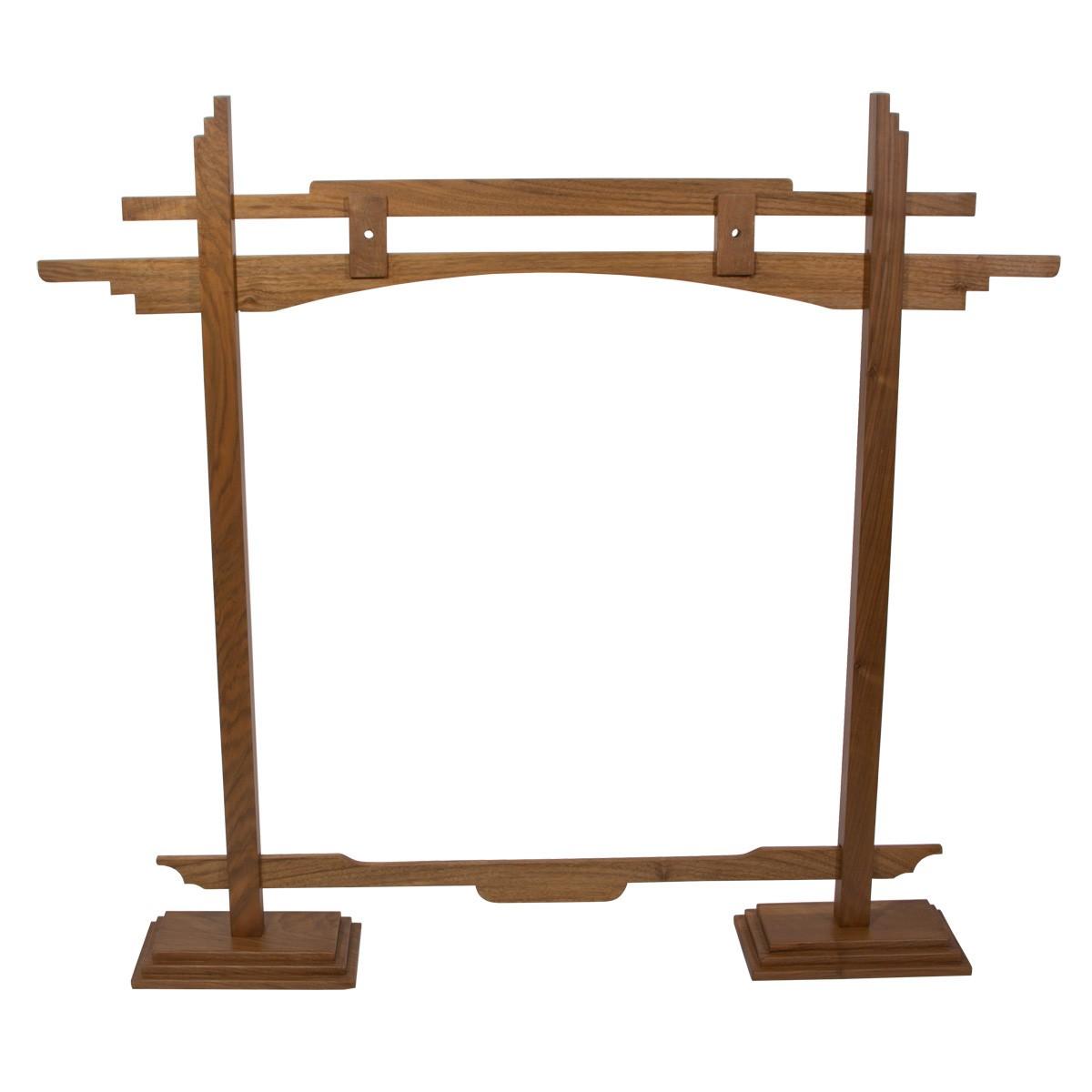 DOBANI Pedestal Gong Stand 26-Inch - Walnut *Blemished