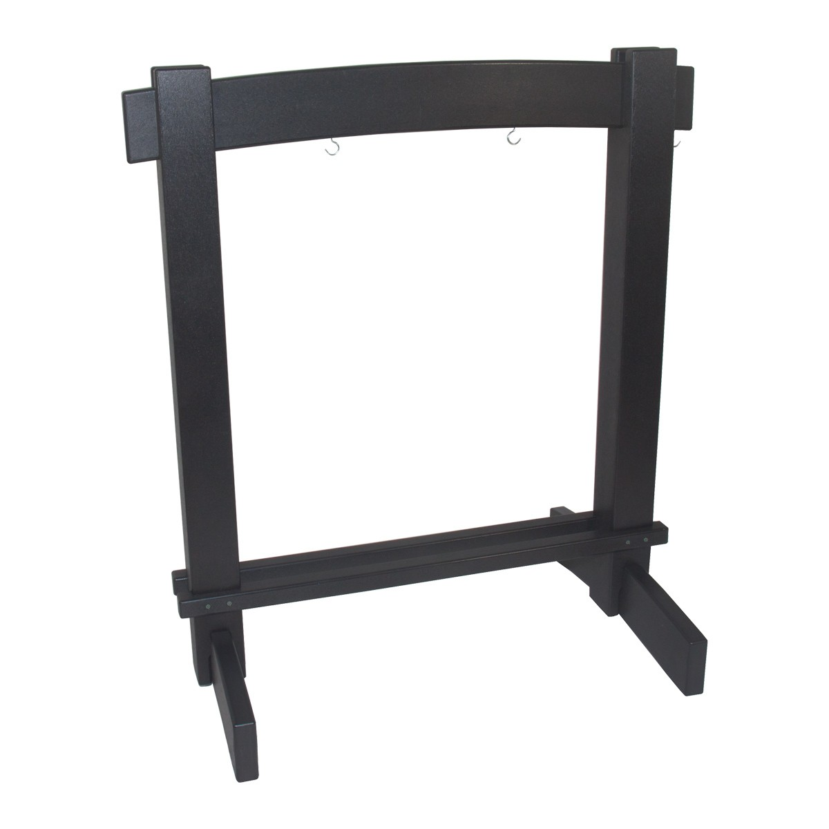 DOBANI Recycled Plastic Arched Gong Stand For 26-Inch Gong  - Black