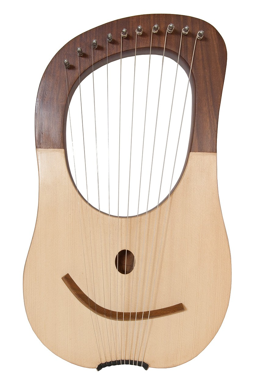 Mid-East Lyre Harp 10-String, Sheesham