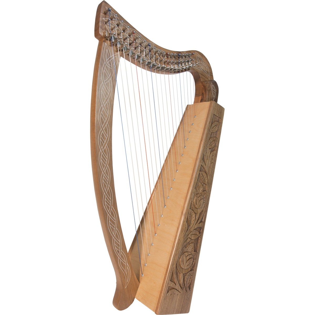 Roosebeck  Pixie Harp 19-String - Walnut