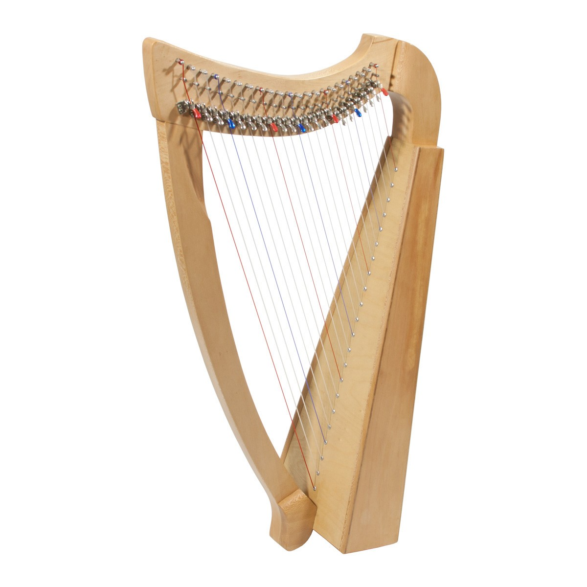 Roosebeck 22-String Lacewood Harp Chelby Levers Natural *Blemished -2