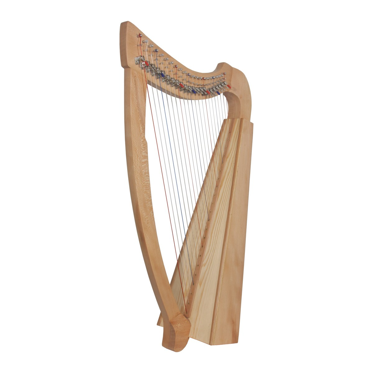 Roosebeck 22-String Lacewood Harp Chelby Levers Natural