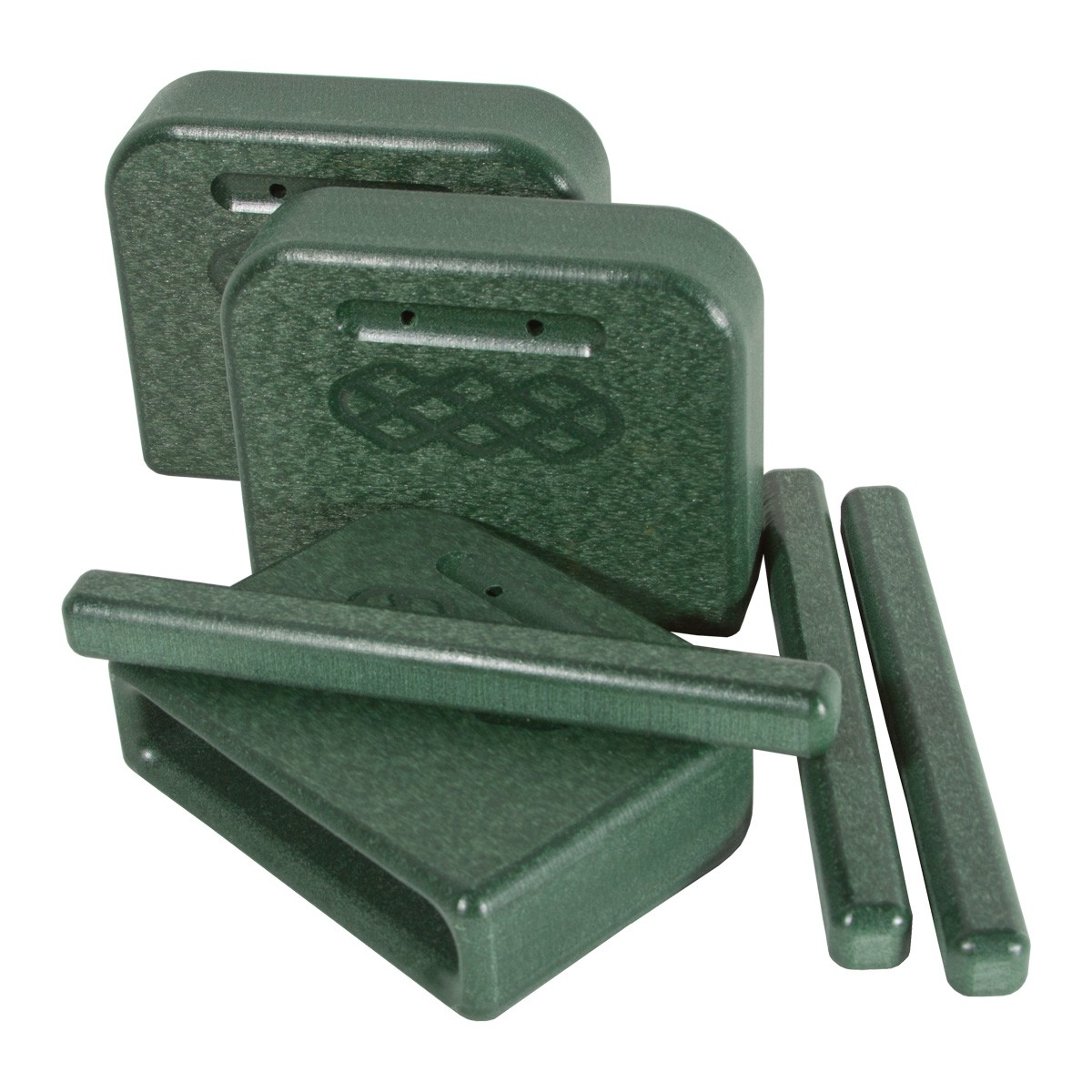 PlayMore Design Eco Tone Blocks with Strikers (Set of 3) - Green