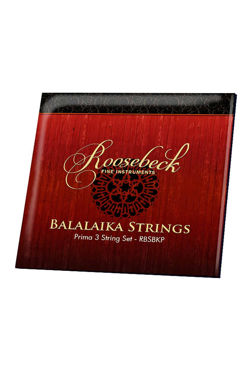 Roosebeck Prima Balalaika String Set w/ 1 Ball-End Steel and 2 Straight-End Titanium Strings