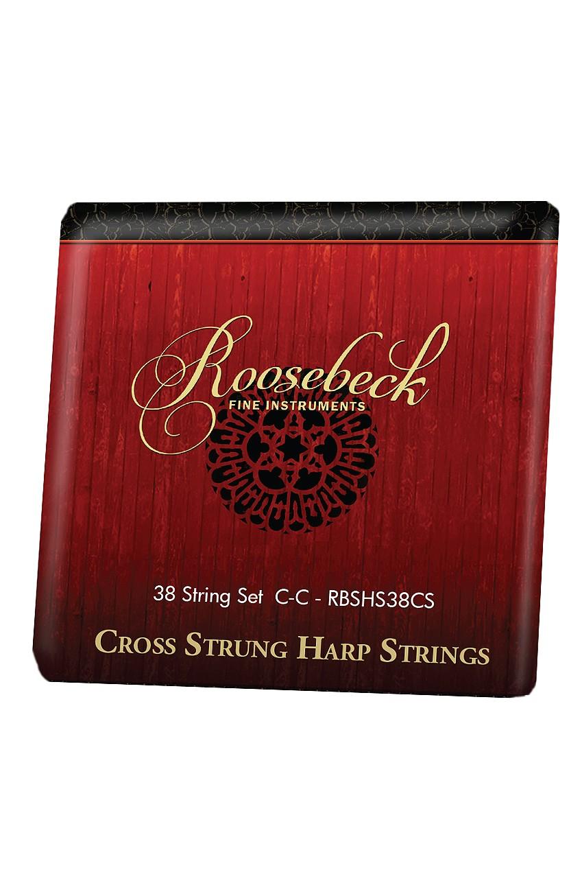 Roosebeck Cross Strung Harp 38-String Set