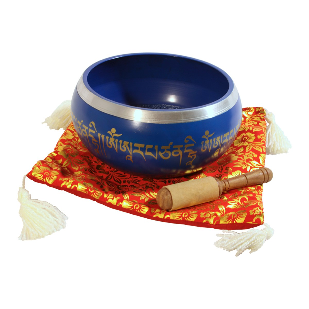 DOBANI Aluminum Singing Bowl 8 -Inch, Blue