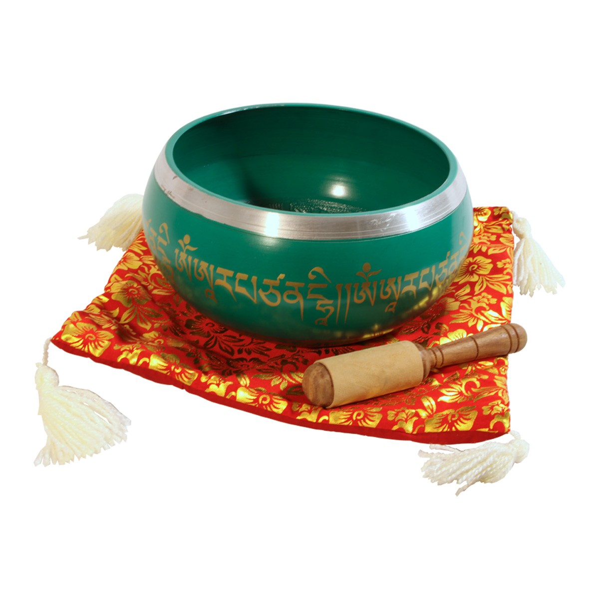 DOBANI Aluminum Singing Bowl 8 -Inch, Green