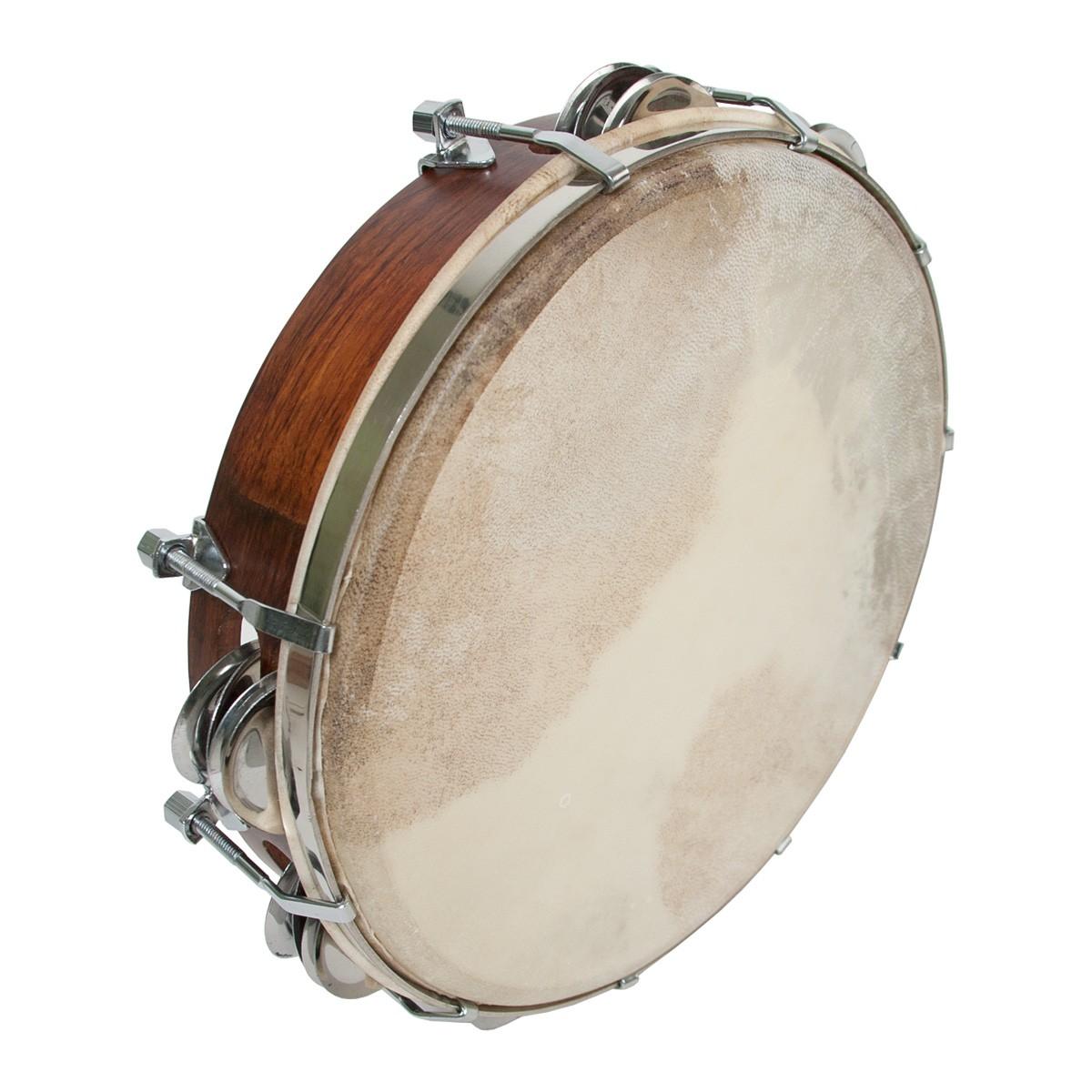 Mid-East Tunable Sheesham Tambourine 10'