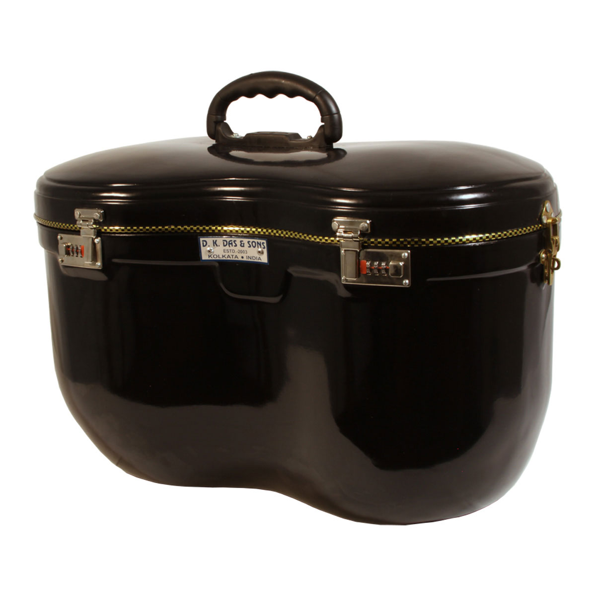 banjira Locking Fiberglass Case for Tabla Set - Black *Blemished