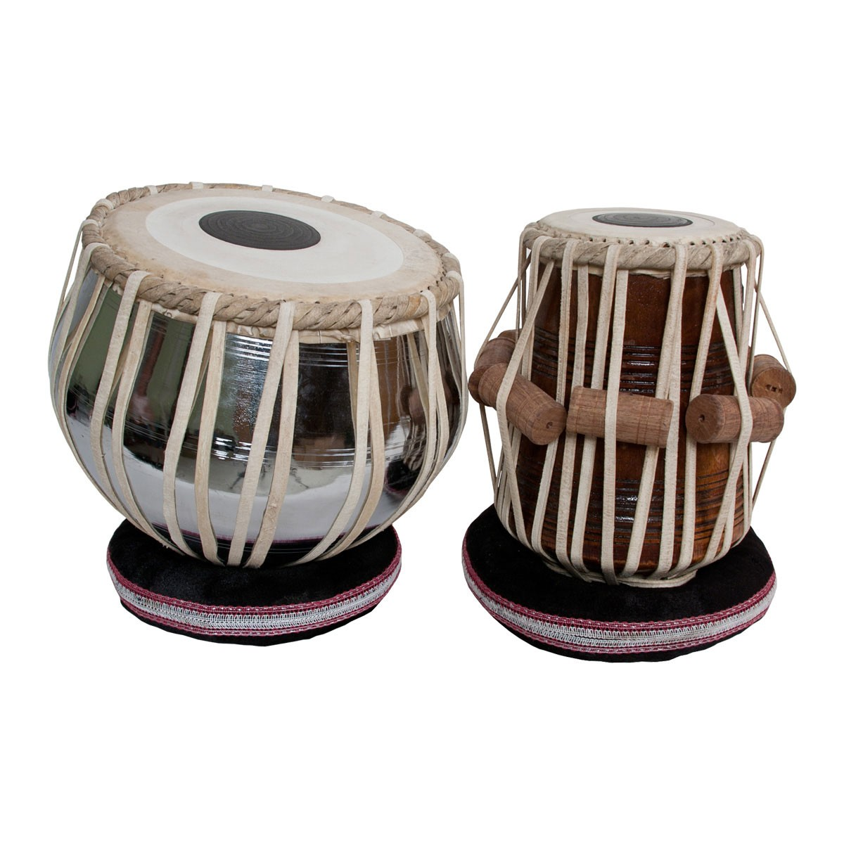 banjira Pro Tabla Set Nickel Plated Brass Bayan and 5.50' Dayan *Blemished