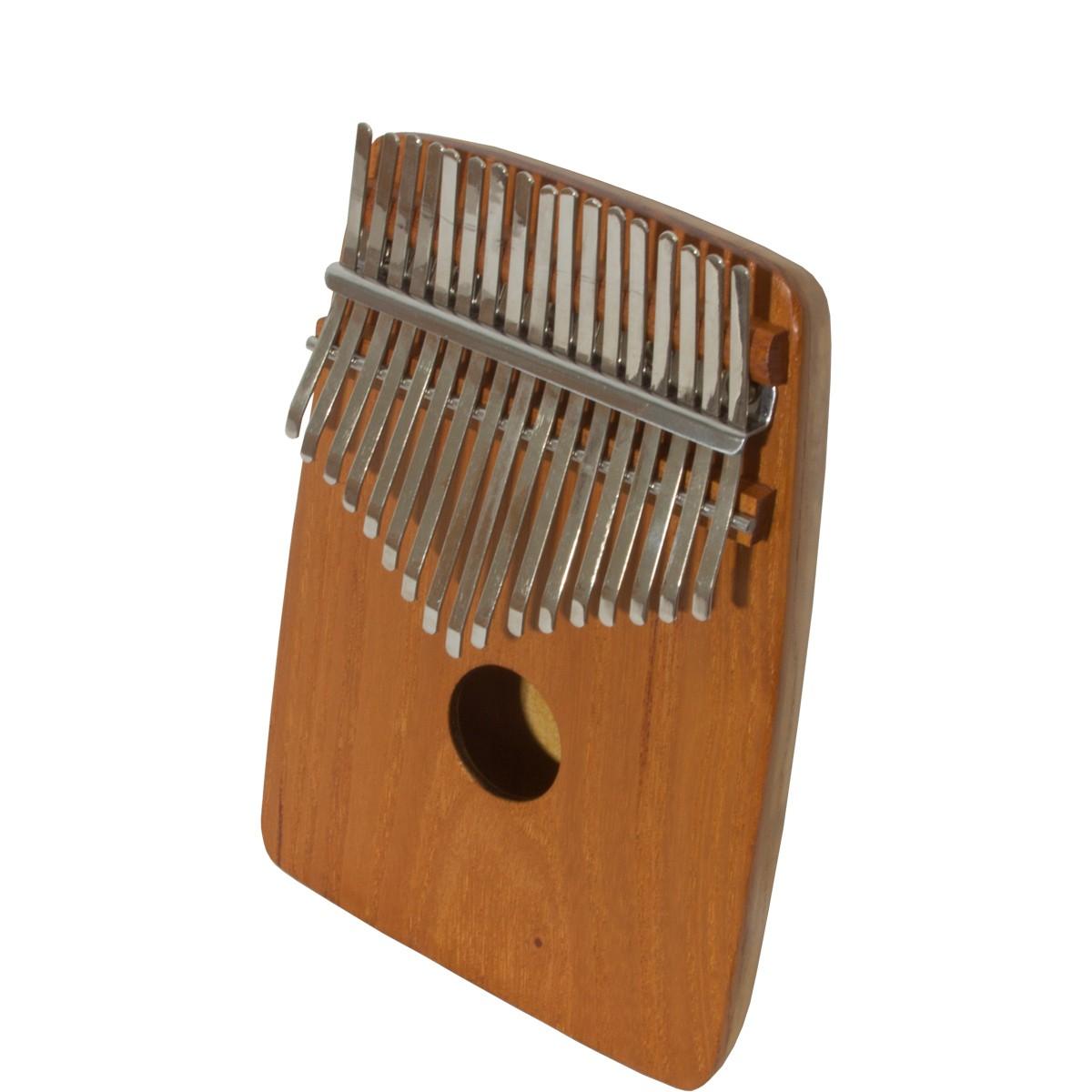 DOBANI 17-Key Thumb Piano w/ Rounded Back - Red Cedar