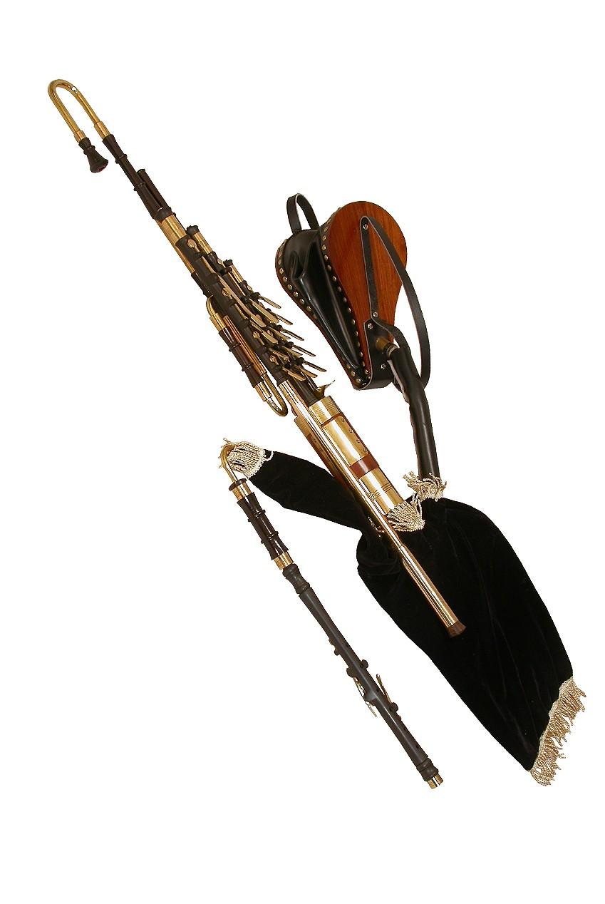 Roosebeck Ebony Uilleann Pipe Set