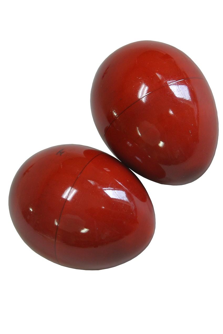 DOBANI Wooden Egg Shakers - Pair - Red