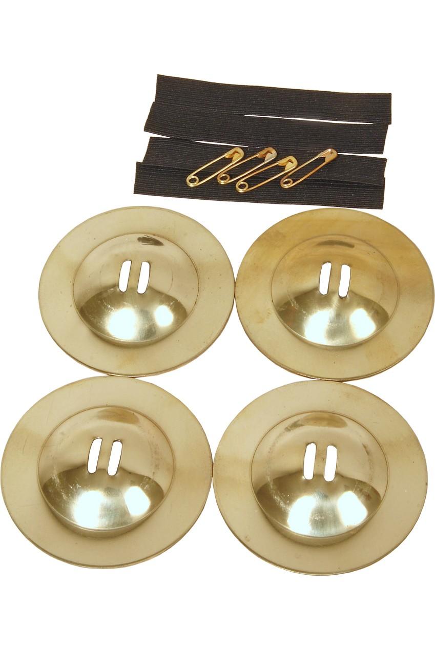 Mid-East Medium Size Solid Brass Rim Edge Finger Cymbals 2.4'