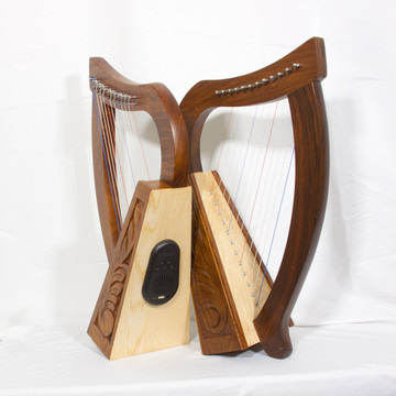 Learning how to play the harp? Or looking for just the right piece of beautiful, yet practical decor? The new Roosebeck Baby Harp with Bluetooth Speaker is just what you're looking for!